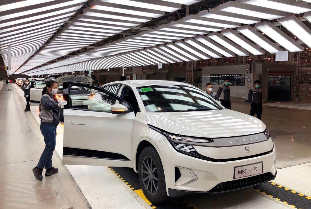 Nhà máy Byton ở Trung Quốc. Xe sẽ bán ra ở Trung Quốc trong năm nay, sau đó tới Mỹ năm 2021. Ảnh: Byton