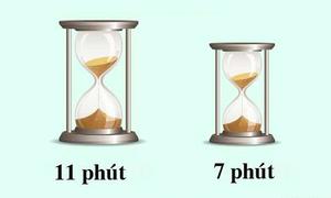 Làm sao để tính đúng 15 phút dựa trên hai đồng hồ cát sẵn có?
