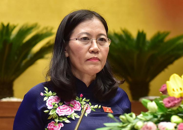 Bà Lê Thị Nga, Chủ nhiệm Uỷ ban Tư pháp. Ảnh: Trung tâm báo chí Quốc hội