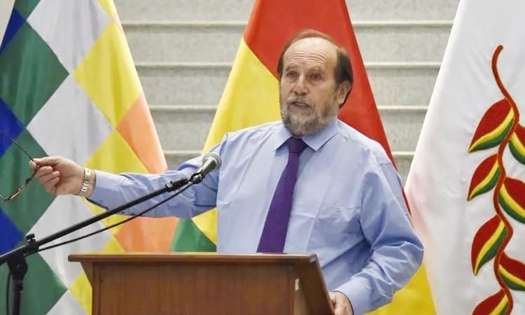 Bộ trưởng Y tếMarcelo Navajas hồi tháng 4. Ảnh: AFP.
