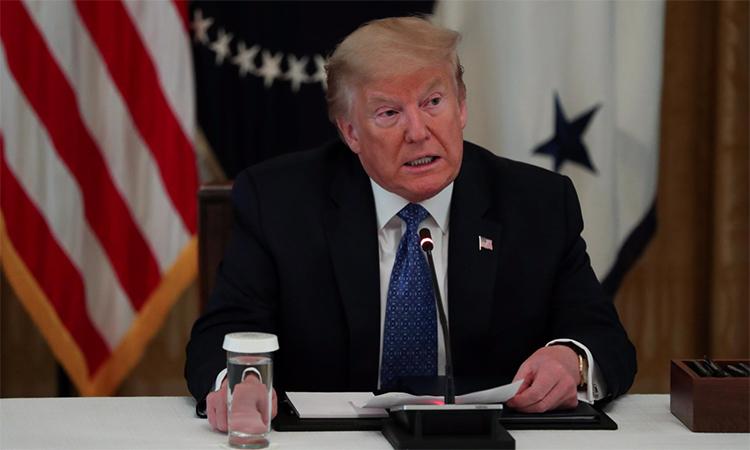 Tổng thống Mỹ Trump tại Nhà Trắng hôm 19/5. Ảnh: Reuters.