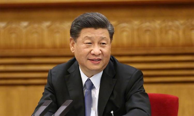 Chủ tịch Trung Quốc Tập Cận Bình trong phiên làm việc với đoàn đại biểu Khu tự trị Nội Mông tại Bắc Kinh, ngày 22/5. Ảnh: Xinhua.