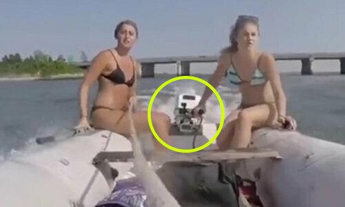 Hoa hậu Hàn Quốc rơixuống nước khi chơi thuyền thúng  - 2