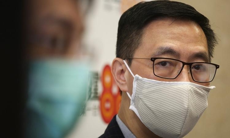 Quan chức phụtrách giáo dục của Hong KongKevin Yeung. Ảnh: