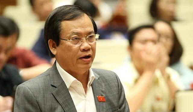 Đại biểu Vũ Trọng Kim phát biểu tại nghị trường. Ảnh: Trung tâm báo chí Quốc hội