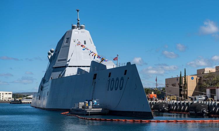 USS Zumwalt thăm Trân Châu Cảng hồi tháng 4/2019. Ảnh: US Navy.