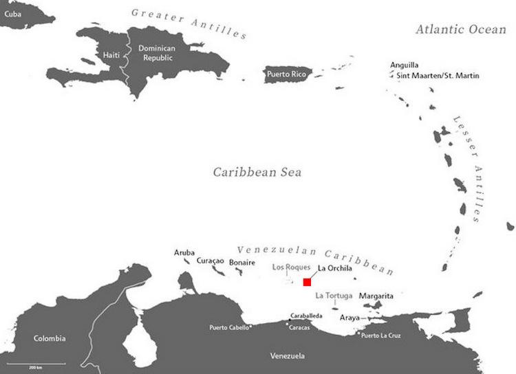 Vị trí đảo La Orchila. Đồ họa: Global Security.