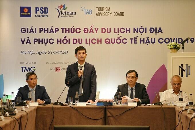 Ông Lê Quang Tùng, Thứ trưởng Bộ Văn hóa, Thể thao và Du lịch tổng kết hội thảo.