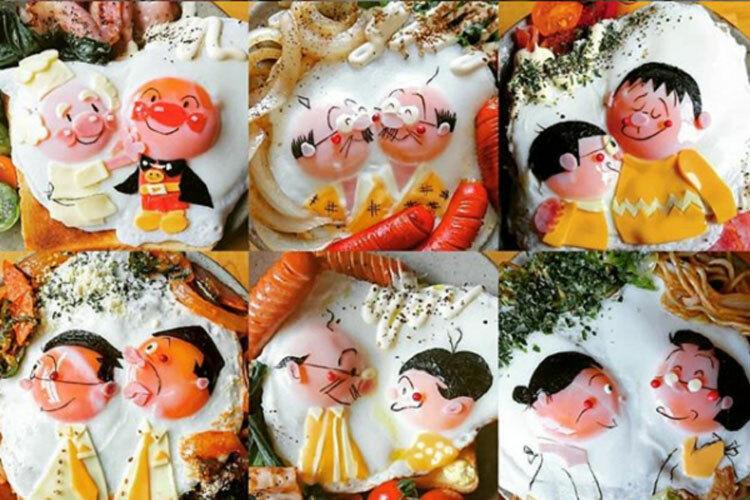 Những tác phẩm nghệ thuật từ trứng. Ảnh:Etoni Mama.