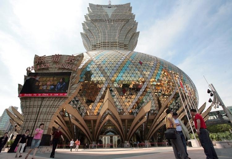 Sòng bàiGrand Lisboa ở Macau. Ảnh: AFP.
