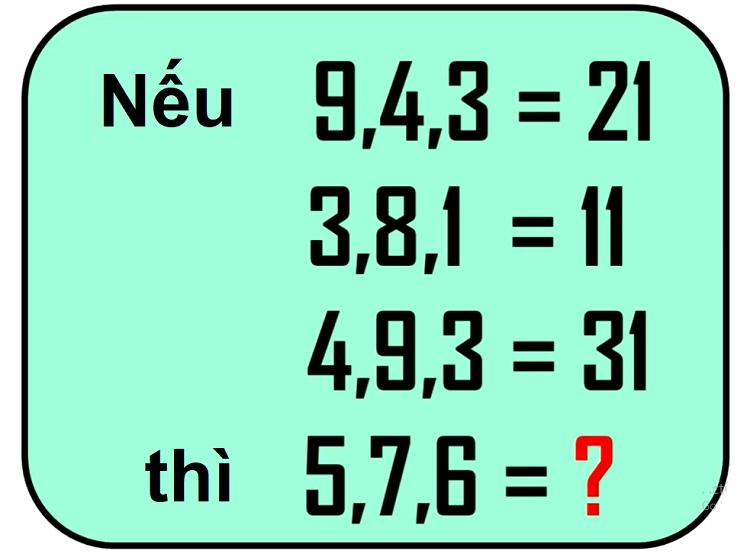Năm câu đố IQ - 2
