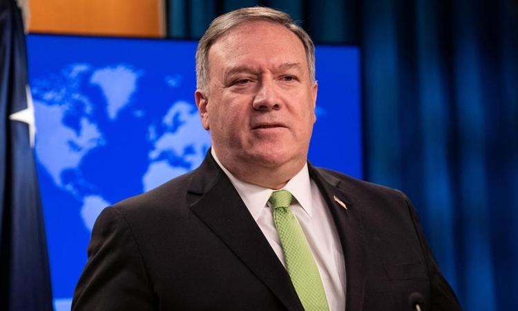 Ngoại trưởng Mỹ Mike Pompeo tại Washington D.C. ngày 20/5. Ảnh: Reuters.