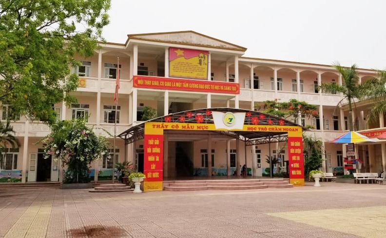 Một dãy phòng học của trường Tiểu học Quang Trung, quận Ngô Quyền, TP Hải Phòng. Ảnh: Giang Chinh.