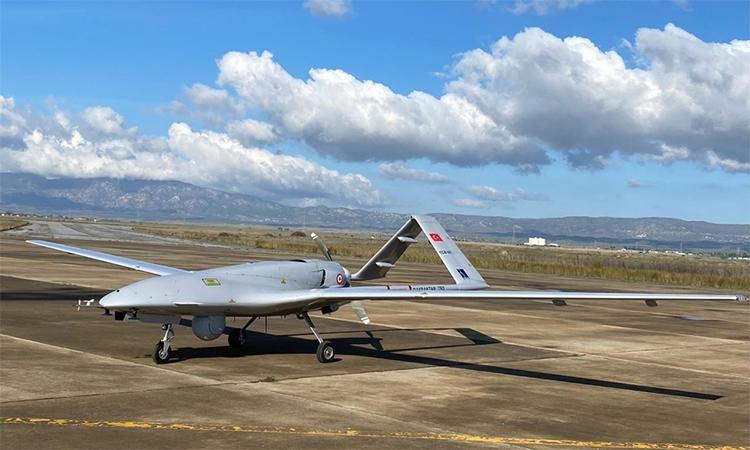 UAV Bayraktar TB2 của Thổ Nhĩ Kỳ. Ảnh: AP.