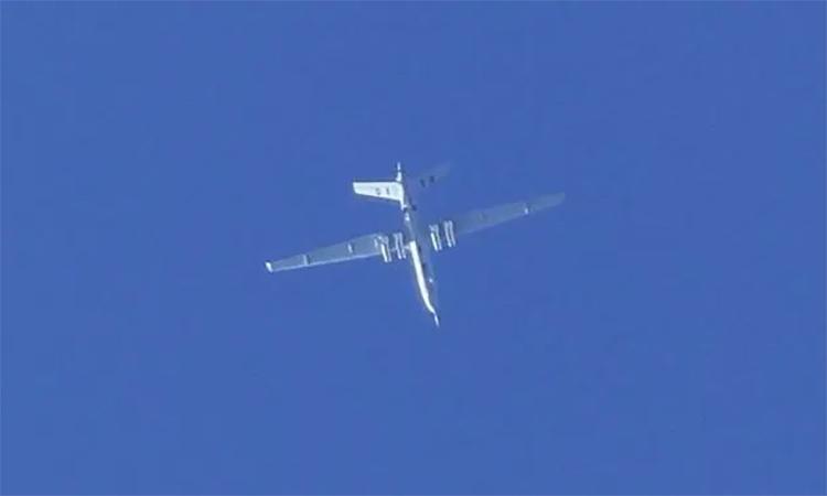 UAV Dực Long do phi công UAE vận hành bay gần Tripoli, tháng 6/2019. Ảnh: Twitter/towersight.