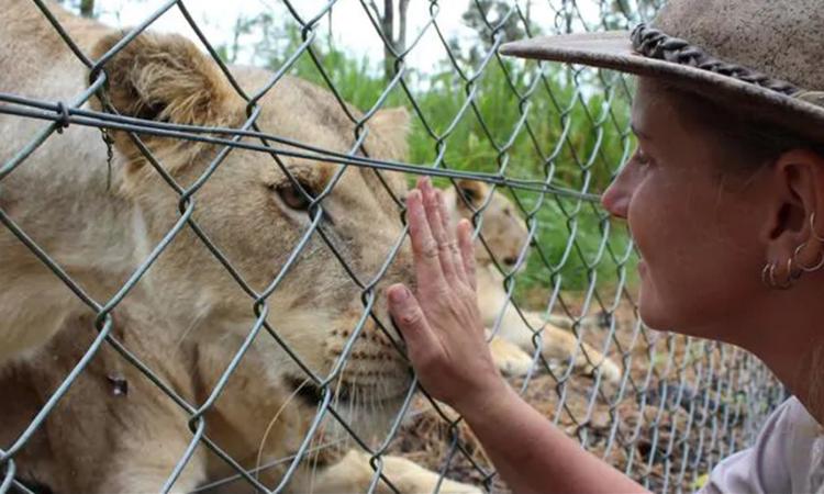 Nữ nhân viên Jennifer Brown của vườn thúShoalhaven. Ảnh: News.com.au.
