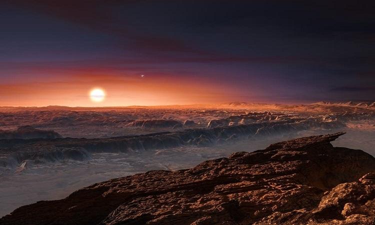 Proxima b ở cách Trái Đất khoảng 4,2 năm ánh sáng. Ảnh: NASA.
