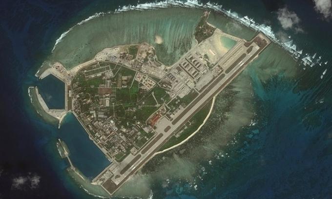 Đảo Phú Lâm trên quần đảo Hoàng Sa của Việt Nam. Ảnh: CSIS.