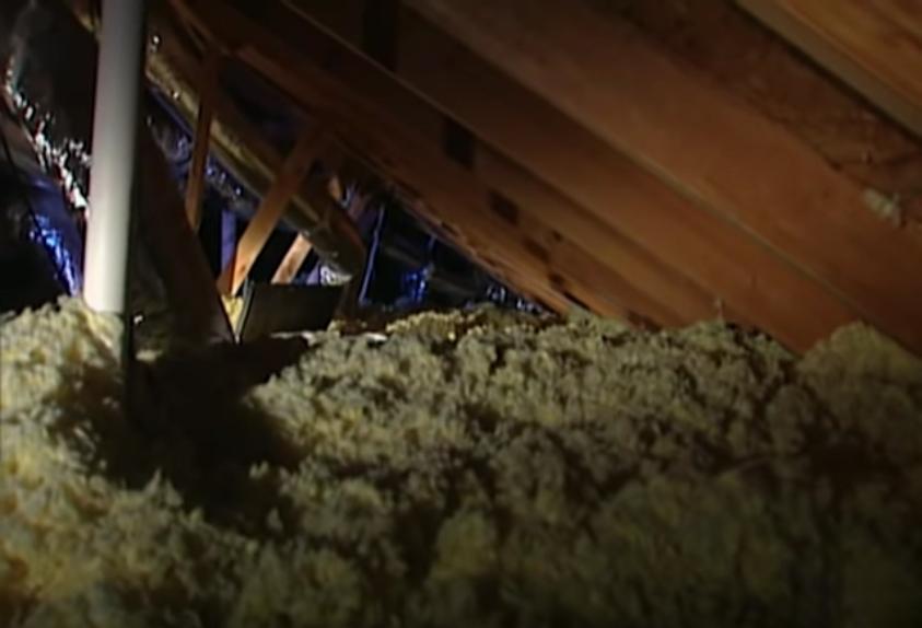 Khoang gác mái trên trần nhà đủ rộng để người lớn chui qua. Ảnh: Filmrise.