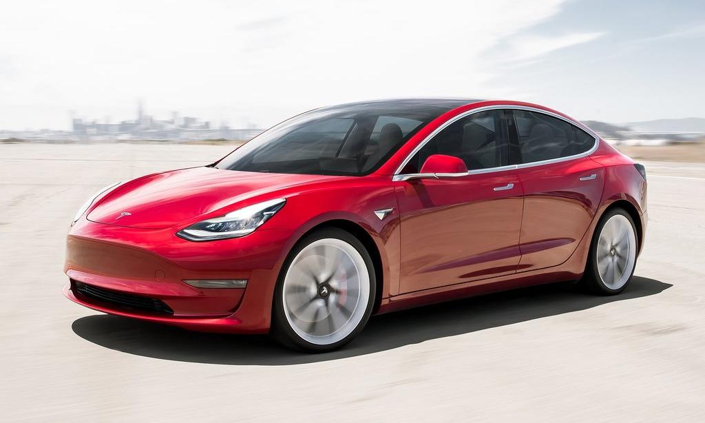 Model 3, mẫu xe điện ăn khách tại California. Ảnh: Tesla