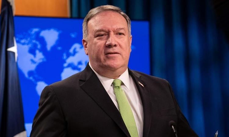 Ngoại trưởng Mỹ Mike Pompeo tại Washington ngày 20/5. Ảnh: Reuters.