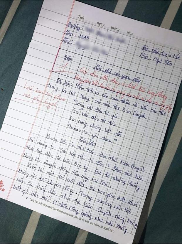 Phân tích thơ bằng kiến thức địa lý, nam sinh bị cô dọa mời phụ huynh - 2