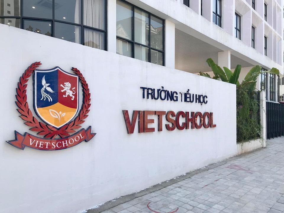 Trường Tiểu học Vietschool ở Triều Khúc, quận Thanh Xuân. Ảnh: Dương Tâm.