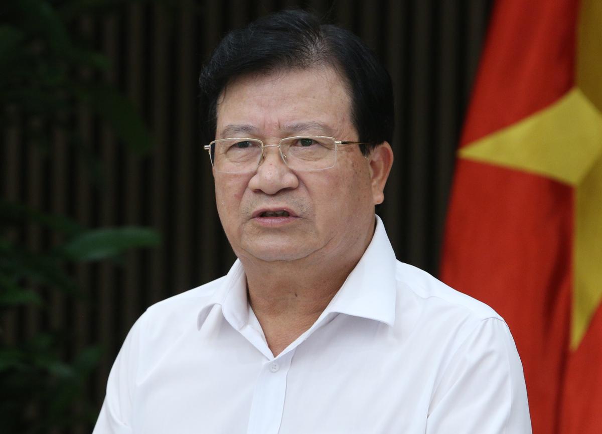 Phó thủ tướng Trịnh Đình Dũng chủ trì cuộc họp về các phương án phân vùng giai đoạn 2021 - 2030. Ảnh: VGP