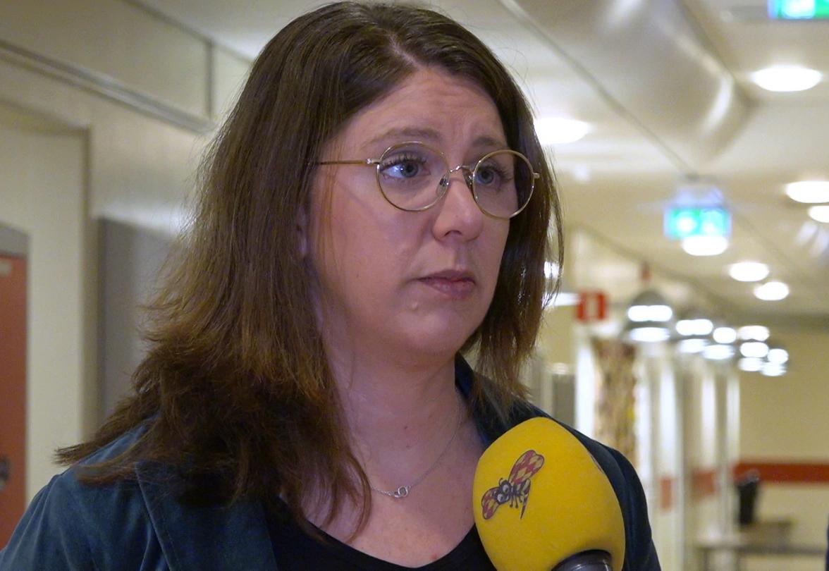 Hiệu trưởng Ulrika Mattsson thừa nhận đã loại bỏ học sinh nước ngoài học tiếng Thụy Điển trên một năm khỏi kỳ thi PISA 2018. Ảnh: Cecilia Anderberg.
