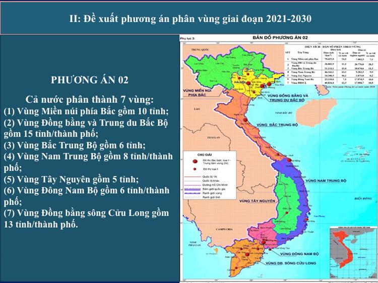 Phương án phân vùng với đề xuất mở rộng đồng bằng sông Hồng. Ảnh: VGP