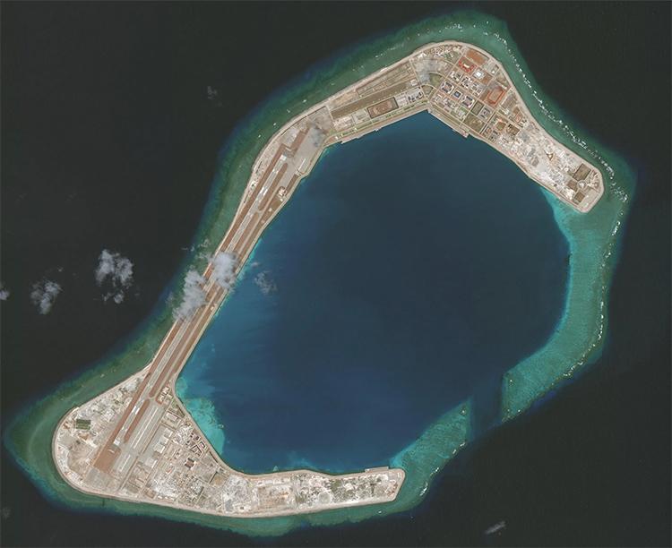Đá Subi thuộc quần đảo Trường Sa của Việt Nam, ngày 27/3. Ảnh: CSIS.