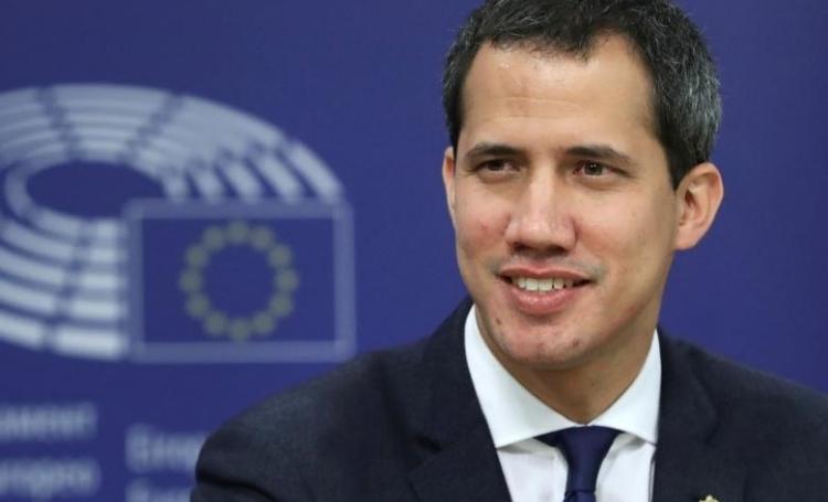 Juan Guaido tại một cuộc họp báo ởBrussels, Bỉ, hôm 22/1. Ảnh: Reuters.