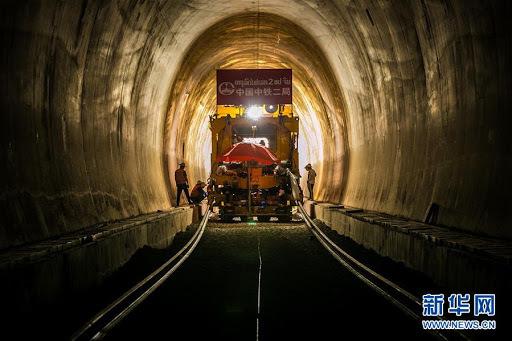 Dự án đường sắt cao tốc dưới biển của Trung Quốc sẽ hoàn thành vào năm 2025. Ảnh: Xinhua.
