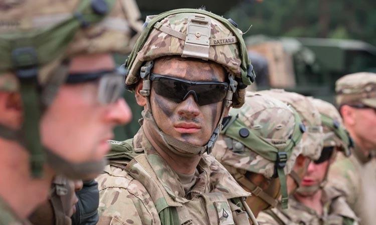 Binh sĩ Mỹ trong cuộc diễn tập của NATO tạiOrzysz, Ba Lan, hồi năm 2017. Ảnh: AFP.