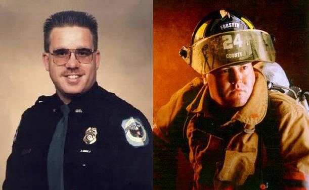 Glenn Turner (trái) và Randay Thompson. Ảnh: Cobb County.