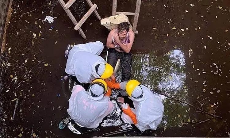 Jacob Roberts khi được giải cứu hôm 6/6. Ảnh: AFP.