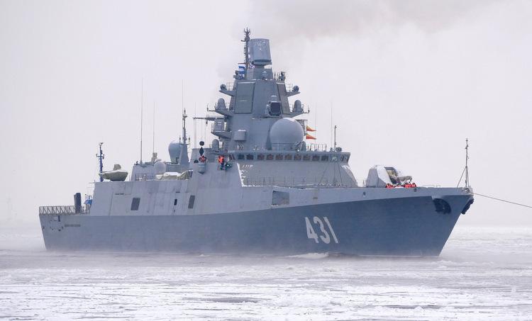 Đô đốc Kasatonov trong đợt thử nghiệm cấp nhà máy cuối năm 2018. Ảnh: Russian Arms.