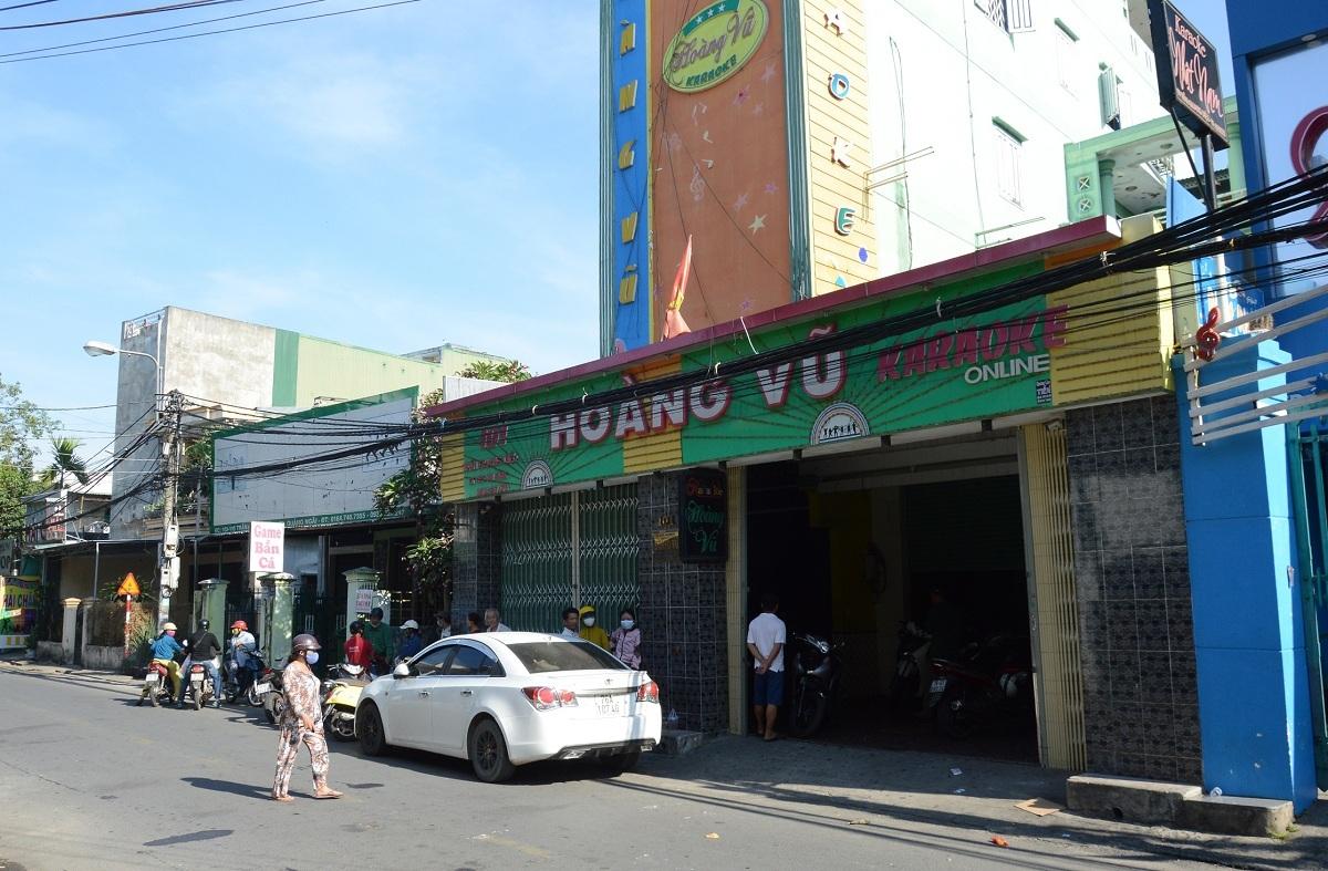 Quán karaoke Hoàng Vũ, nơi gần 68 người bị bắt quả tang dùng ma túy. Ảnh: Thạch Thảo.