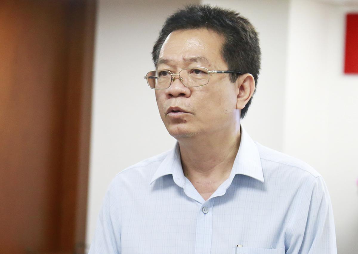 Ông Vũ Văn Điệp, Giám đốc Trung tâm Quản lý hạ tầng kỹ thuật (Sở Xây dựng). Ảnh: Hữu Công