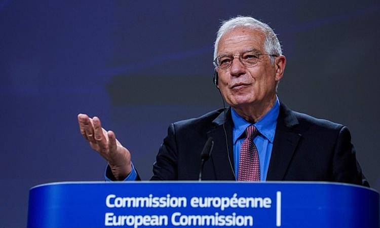 Josep Borrell tạiBrussels ngày 9/6. Ảnh: Reuters.
