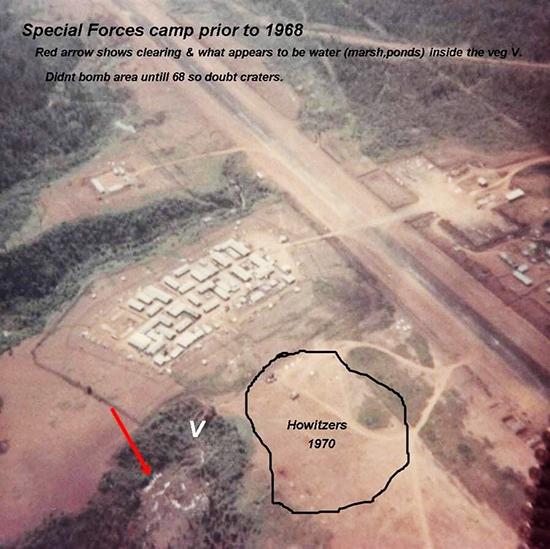 Sơ đồ giúp lực lượng tìm kiếm được hố chôn tập thể 17 chiến sĩ đặc công do một cựu chiến binh Mỹ trực tiếp chôn cất cung cấp. Ảnh: Nhân vật cung cấp.