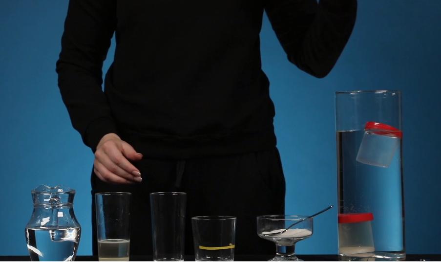Các vật liệu cần thiết cho thí nghiệm Mật độ và trọng lượng.