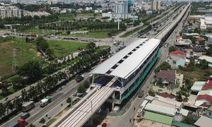 11 nhà ga trên cao metro Số 1 đã làm đến đâu?