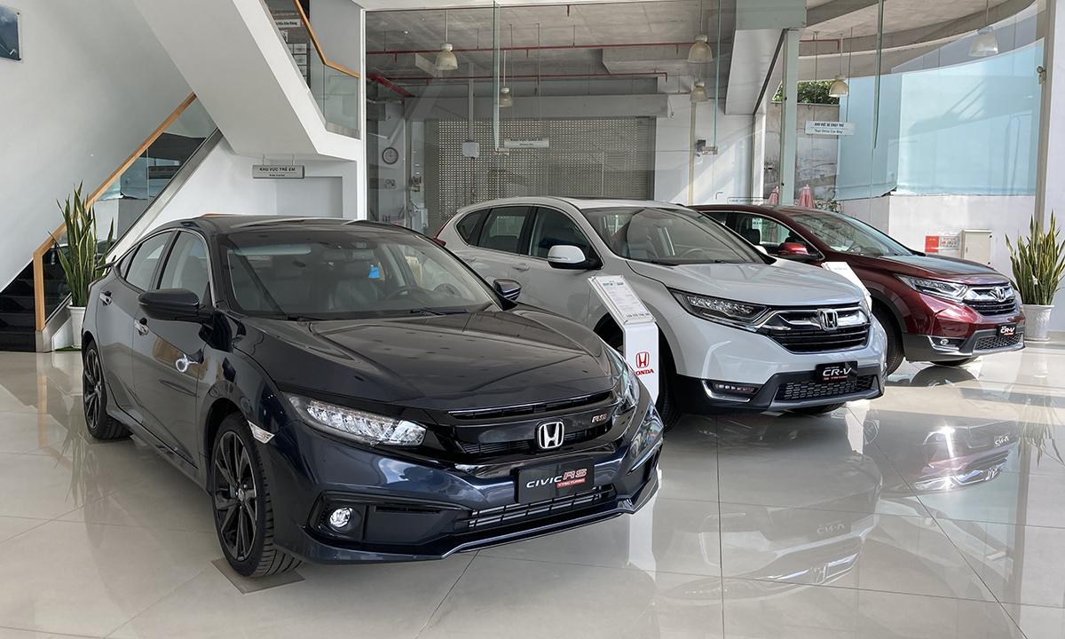 Xe Honda trưng bày tại một đại lý ở TP HCM. Ảnh: Thành Nhạn