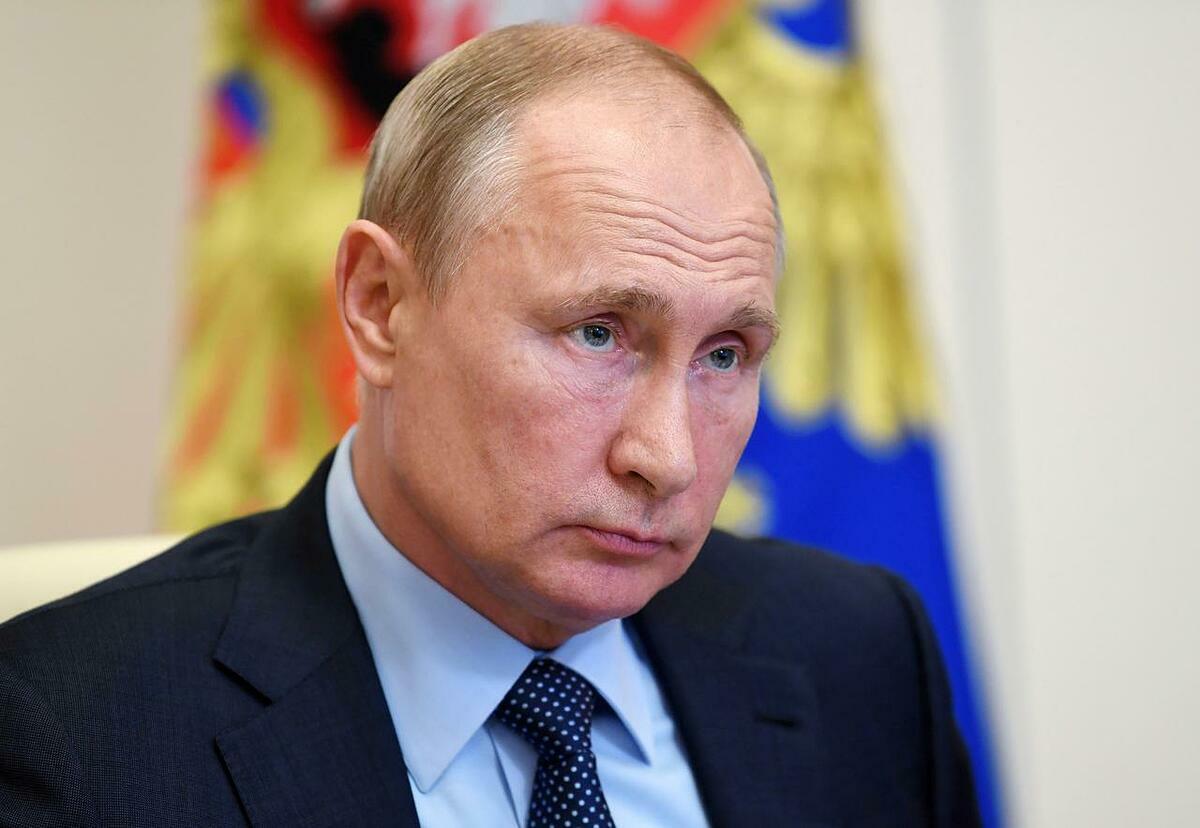 Tổng thống Nga Putin tham dự một hội nghị trực tuyến ở Moskva, Nga, ngày 11/6. Ảnh: Reuters.