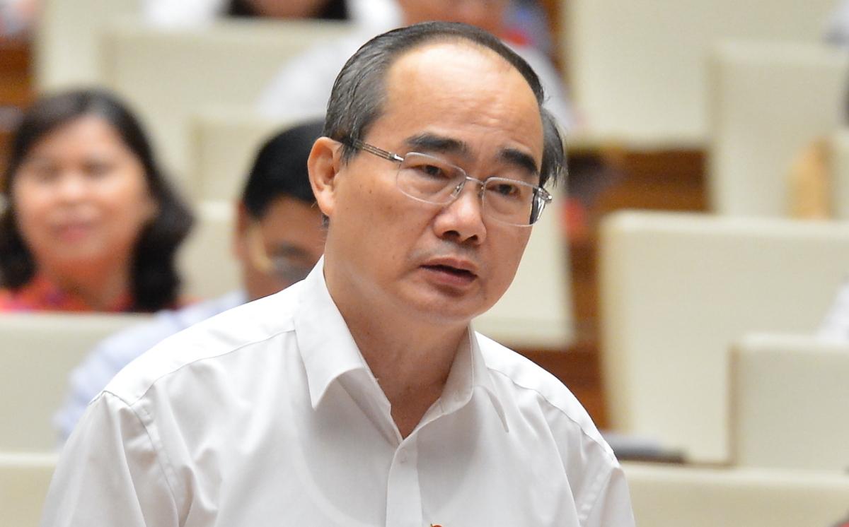 Bí thư Thành uỷ TP HCM Nguyễn Thiện Nhân. Ảnh: Hoàng Phong