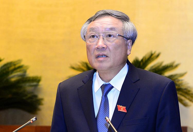 Chánh án TAND tối cao Nguyễn Hoà Bình. Ảnh: Trung tâm báo chí Quốc hội