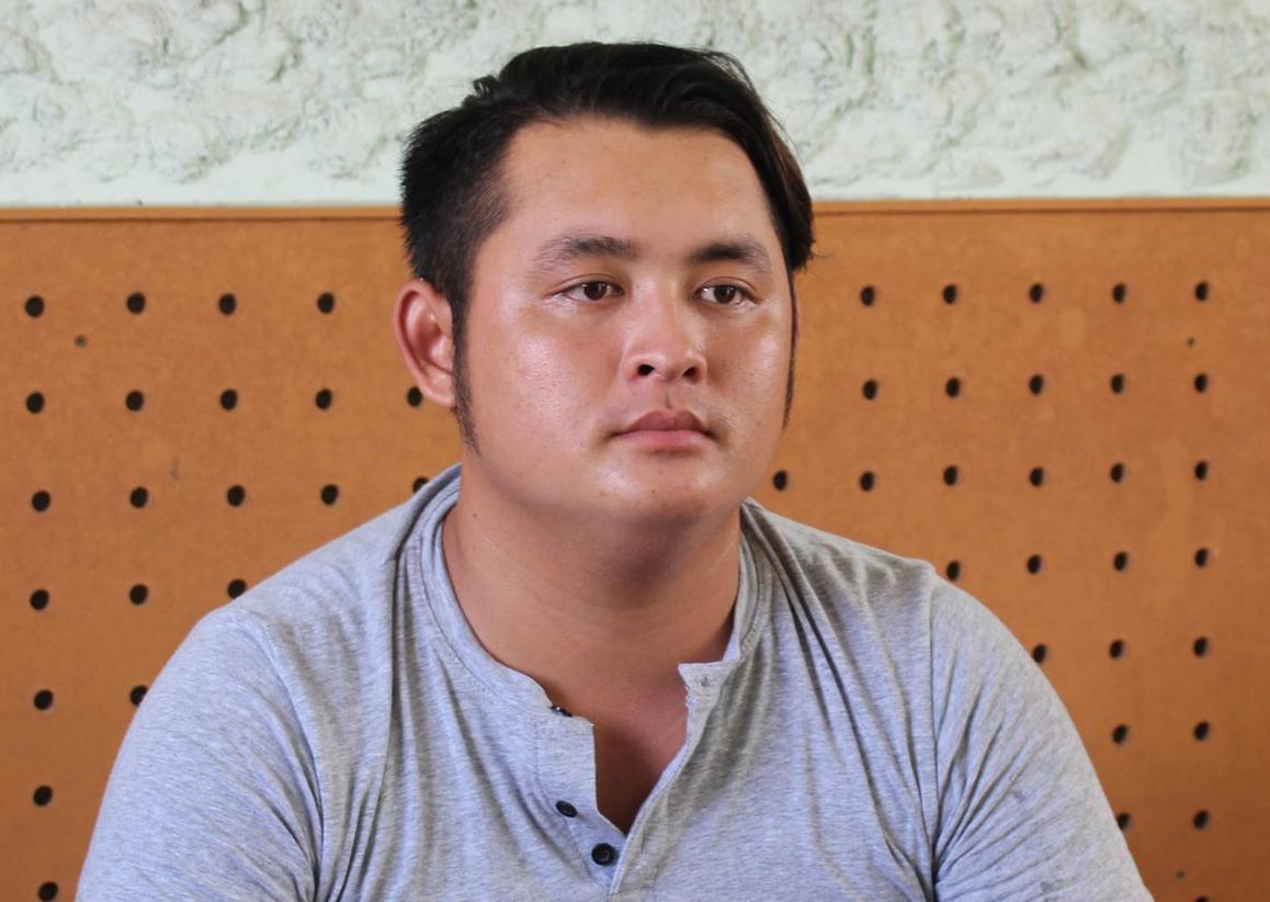 Nghi phạm Nguyễn Vũ Thanh Hoài tại cơ quan điều tra. Ảnh: Thúy Phượng.