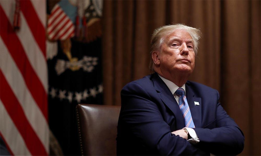 Tổng thống Mỹ Trump tại Nhà Trắng, thủ đô Washington, hôm 15/6. Ảnh: Reuters.