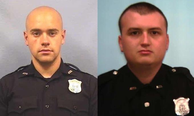 Garrett Rolfe (trái) vàDevin Brosnan. Ảnh: APD.